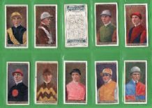 Tobacco cigarette cards Horse racing Jockeys & Owners